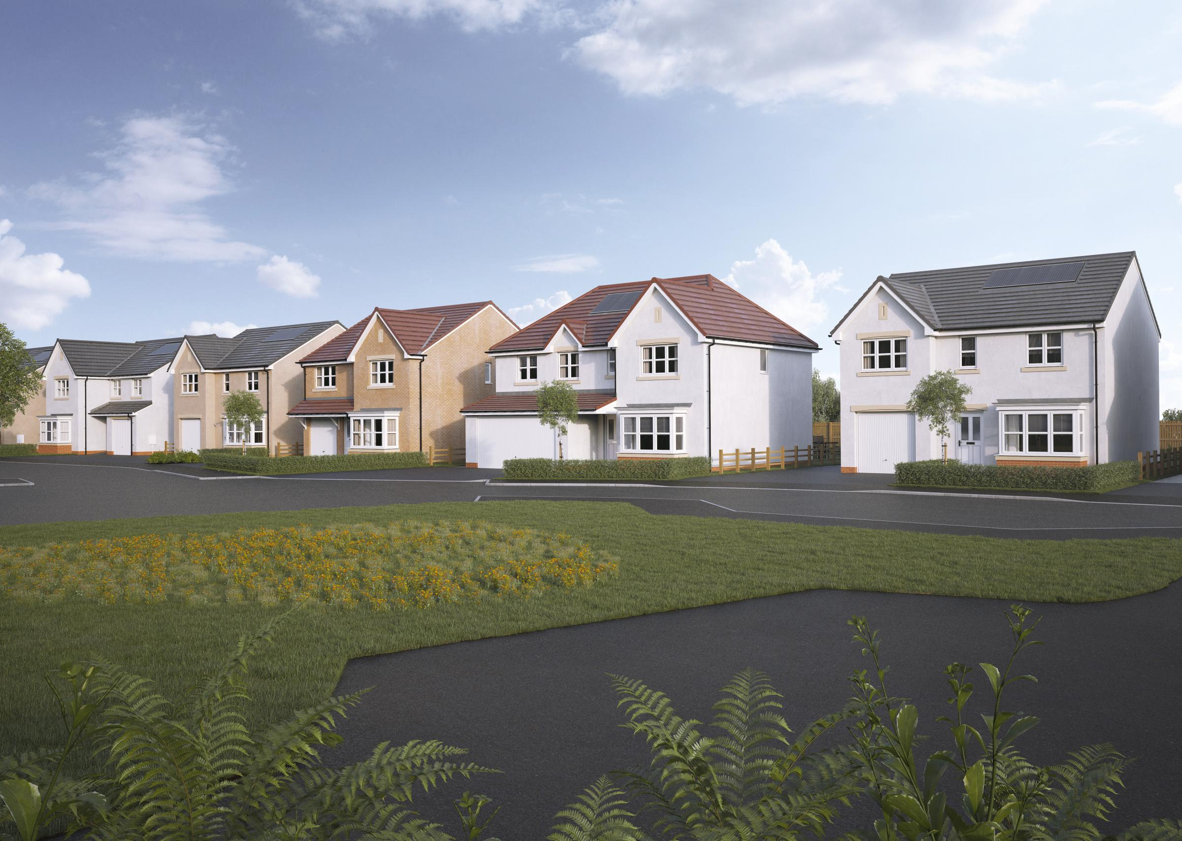 Miller Homes launch new housing deelopment Stoneyetts Village in Moodiesburn near Glasgow