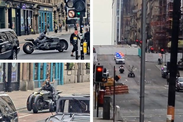 Watch incredible Batman police chase during The Flash filming in Glasgow