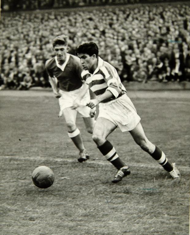Glasgow Times: Celtic Great Bertie Old in Training, October 1959.