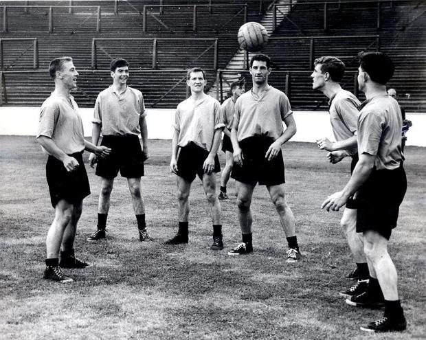 Glasgow Times: 1958 Rangers training