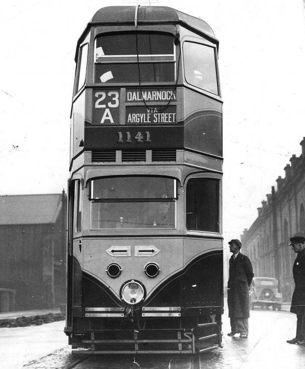 Glasgow Times: A Glasgow tram in 1951.  Photo: NewsQuest.
