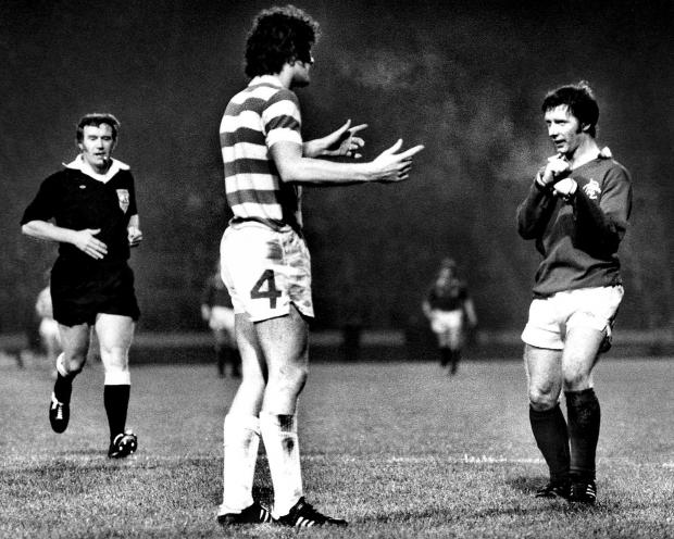 Glasgow Times: During the Celtic vs Rangers game in December 1978 at Parkhead, Alex McDonald made a square to Roy Aitken.