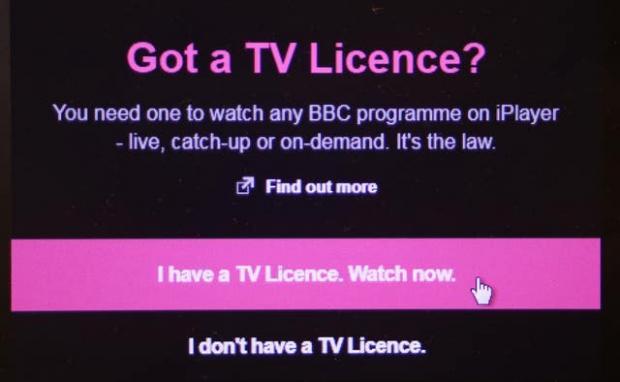 Glasgow Times: BBC Player TV License Page (Philip Tuscano / PA)