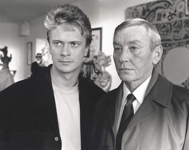 Glasgow Times: There are 11 Ð 20 episodes of Taggart on ITV 3 from February 15, 2006 for the first time on ITV.  Photo: Mike Jardine (played by James McPherson) and Jim Taggart (played by Mark McManus) Please see the photo for more information.