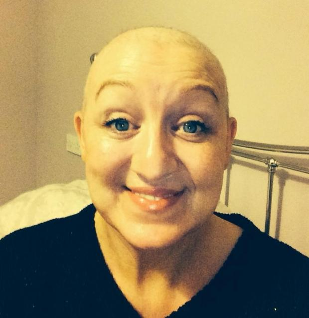 Glasgow Times: Andrea during treatment.