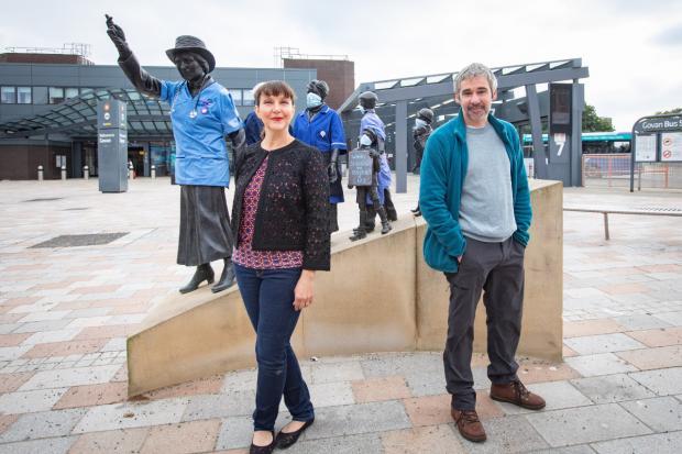 Glasgow Times: ts Beal and Iain Robertson. [Image: Elaine Livingstone]