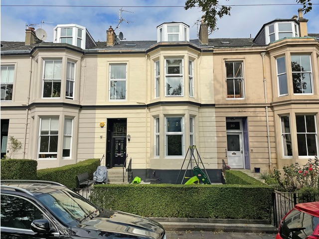 Impressive six-bedroom townhouse for sale in Glasgow's West End