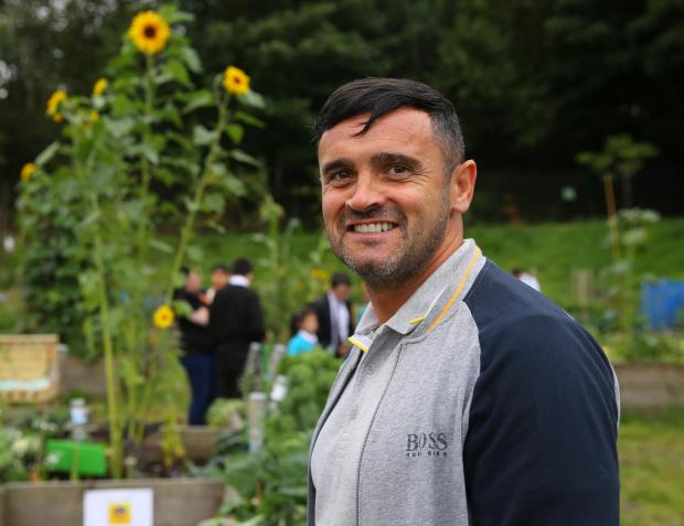 Glasgow Times: Streets forward feature on Lockheed community allotment at Glasgow's Easter House.  Photo by Chris Kerr, Community Support and Development Manager for .. Photograph by Colin Marines 13 September 2021.  For GT, see Anne Futheringham's story.