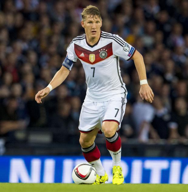Glasgow Times: Schweinsteiger in action for Germany at Hampden