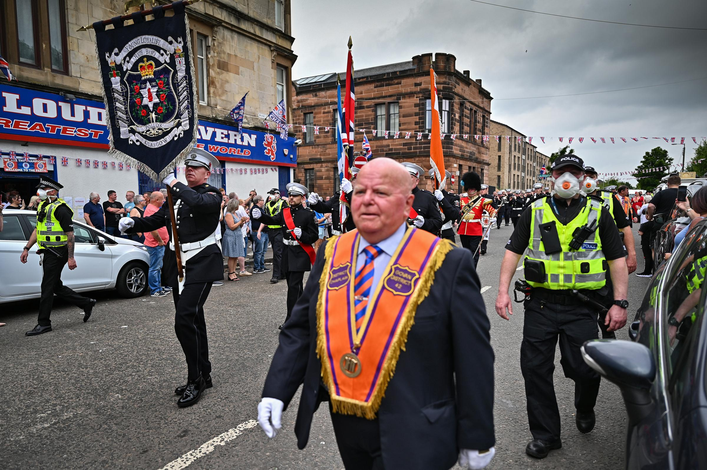 Council and police say no advice given to re-route Orange parades in Glasgow on Saturday