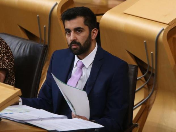 Glasgow Times: Health Secretary Hamza Youssef in the Scottish Parliament