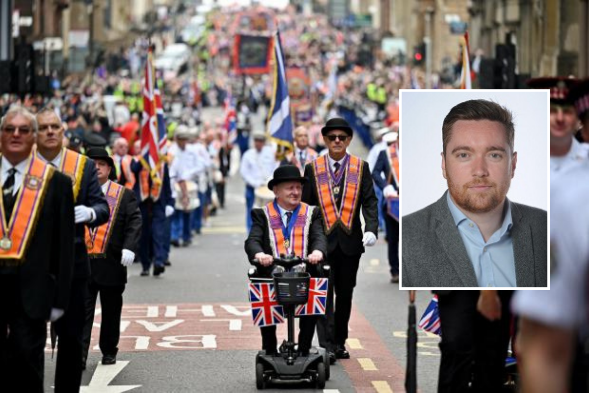 Glasgow councillor Ruairi Kelly calls for orange marches to be banned