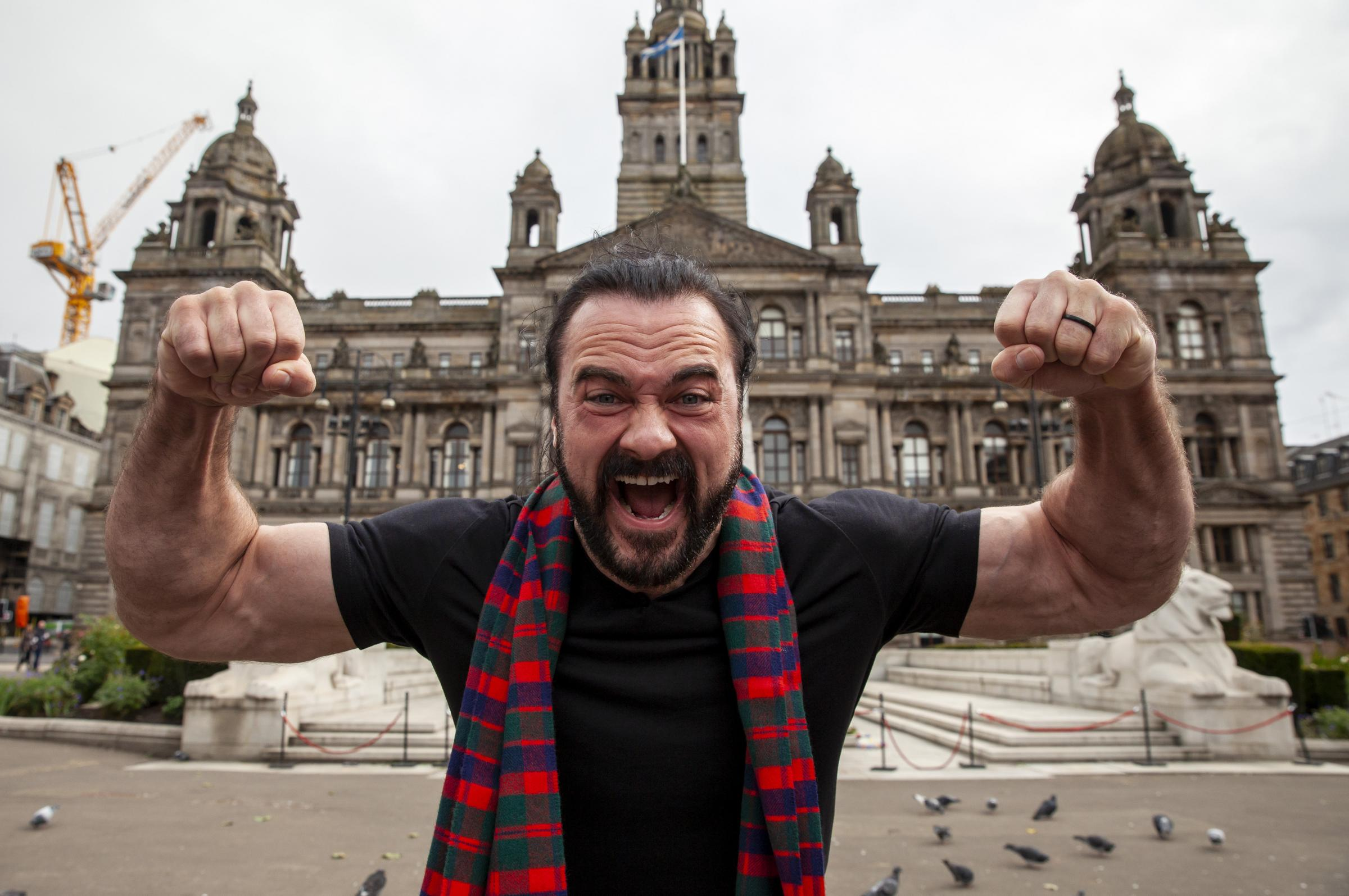 Lord Provost and WWE superstar Drew McIntyre meet in Glasgow