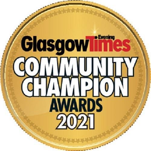 Glasgow Times: Glasgow Community Champion Award 2021.
