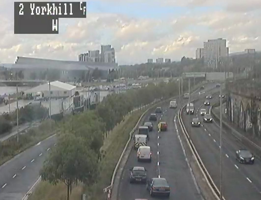 Woman in hospital after crash on Clydeside Expressway in Glasgow