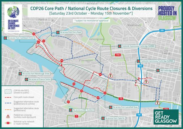 Glasgow Times: Maps show which cycle routes will be affected.