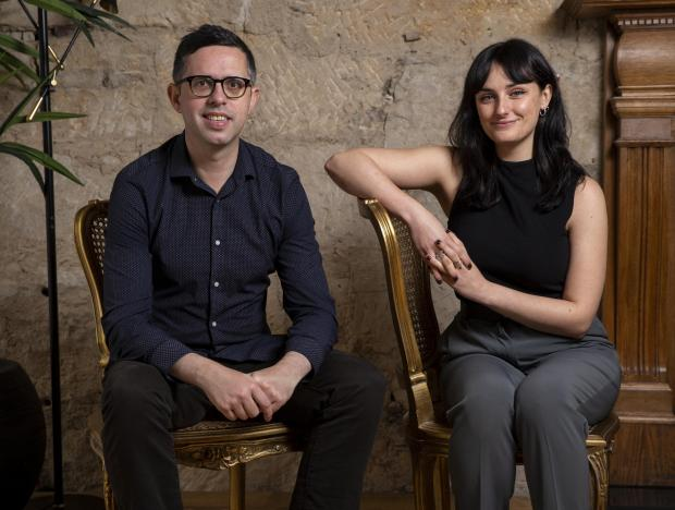Glasgow Times: Paul Trainer and Sarah Campbell.