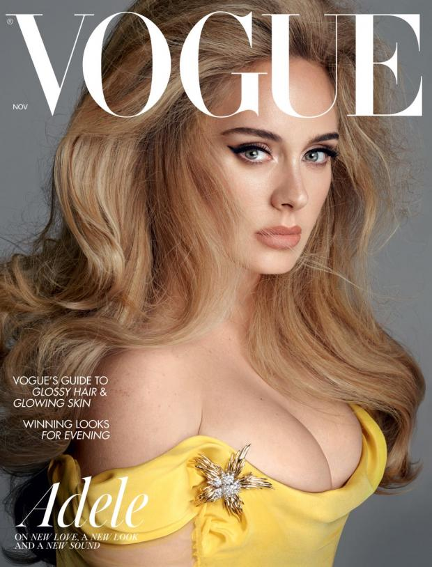 Glasgow Times: Adele on the cover of British Vogue (British Vogue: Steven Messell).