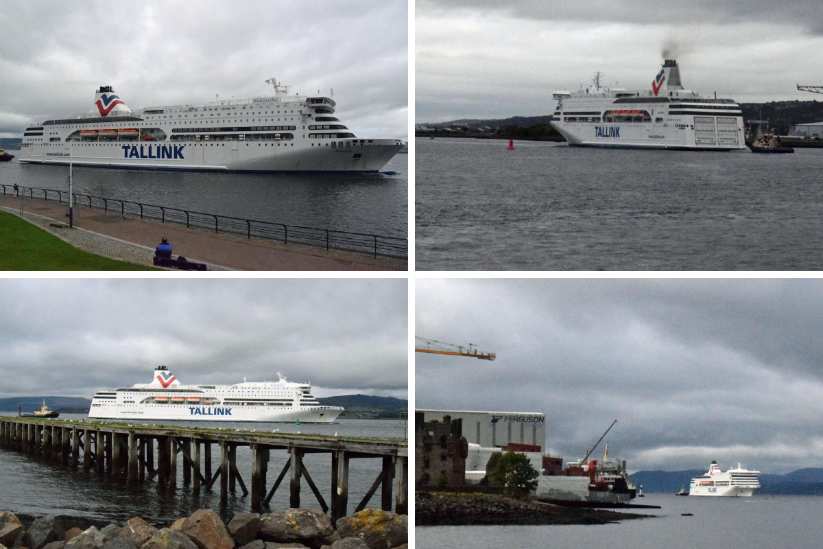 Huge ship providing accommodation for COP26 sails into Glasgow