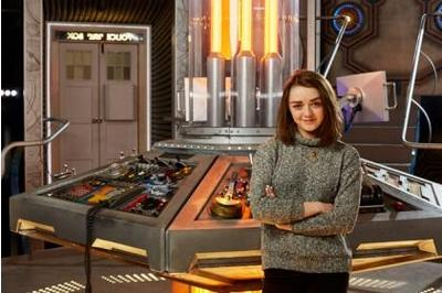 Game of Thrones star Maisie Williams celebrates 18th birthday with a Nandos on the Doctor Who set