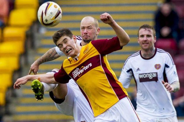 Leitch for the stars...Motherwell teenager Jack made his full debut against Hearts last Saturday