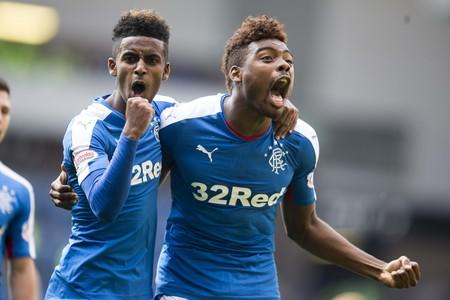 Glasgow Times: Rangers' Gedion Zelalem (left) with Nathan Oduwa  celebrate