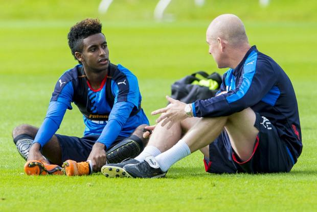 Glasgow Times: LEARNING PROCESS: Gedion Zelalem (left) already appears to being making strides under manager Mark Warburton at Rangers