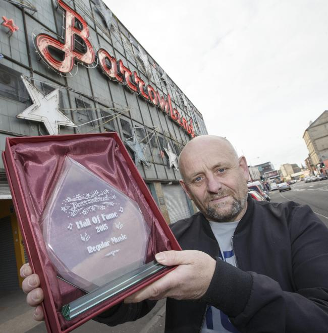 Billy Coyle along with Barrowlands are creating a Hall of Fame for Artists who have helped establish the Venue