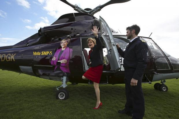 SNP spent £35,000 on its election 'Sturgeon-copter'