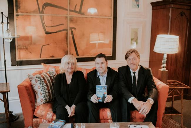 Brought to book: Gavin Bell (centre) meets Richard and Judy