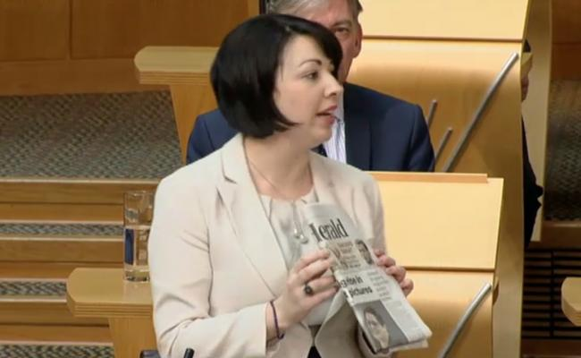 Monica Lennon, the Labour MSP, highlights previous coverage in The Herald regarding the issue
