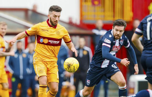Fresh start: Lee Lucas made his first full start for Motherwell in the win over Ross County (Picture: SNS)
