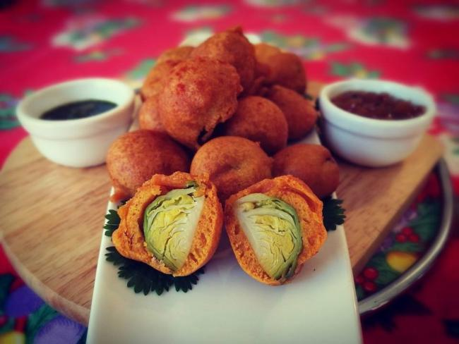 Brussels sprouts pakora