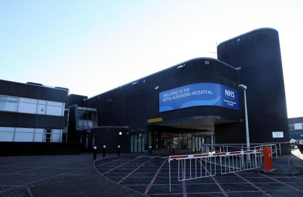 RAH in Paisley limits hospital visitors to essential visits only due to increased number of Covid-19 cases in Renfrewshire