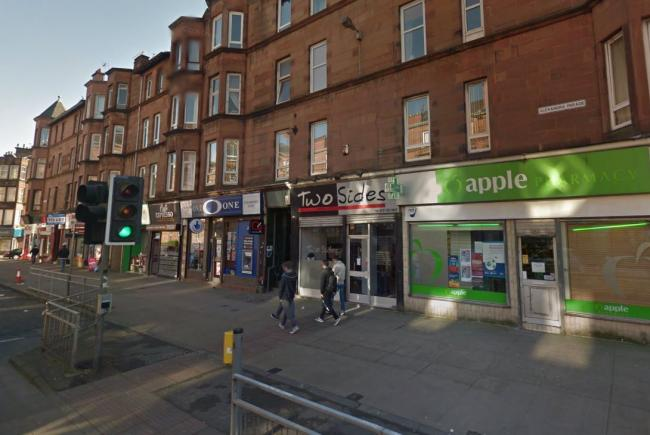 Man jailed for creepily staring at Glasgow pharmacy assistant through window