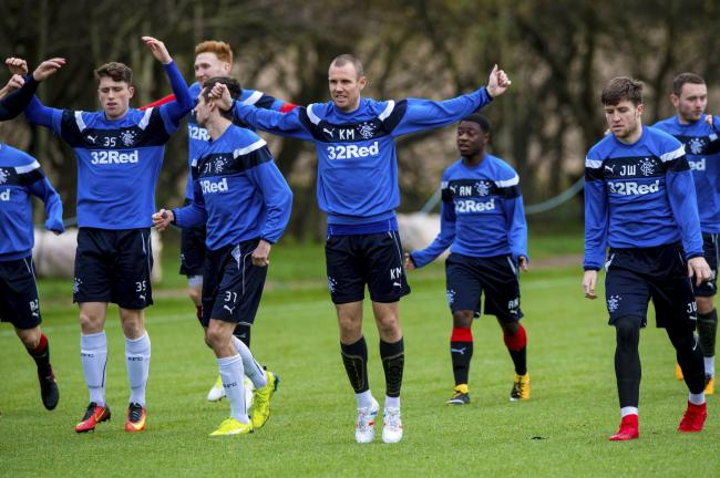 Rangers captain Kenny Miller in training at Auchenhowie.