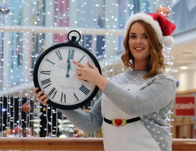 intu Braehead's Madison Dock getting into the Christmas spirit reminding everyone midnight opening at the mall starts on Monday.
