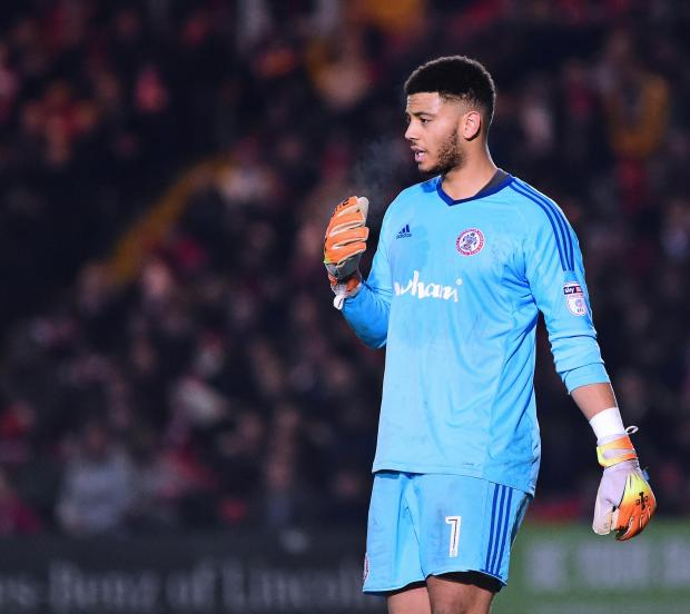 Glasgow Times: 'Well goalkeeper Aaron Chapman, pictured during his Accrington Stanley days, was disappointed with his team's errors
