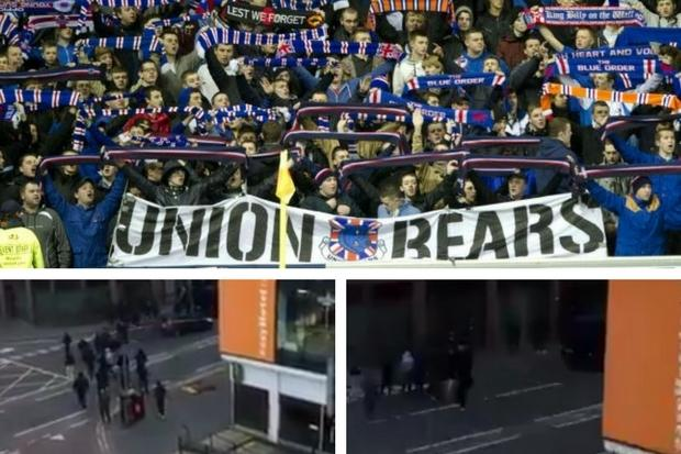 Rangers ultras Union Bears' eerie message after Glasgow hotel incident