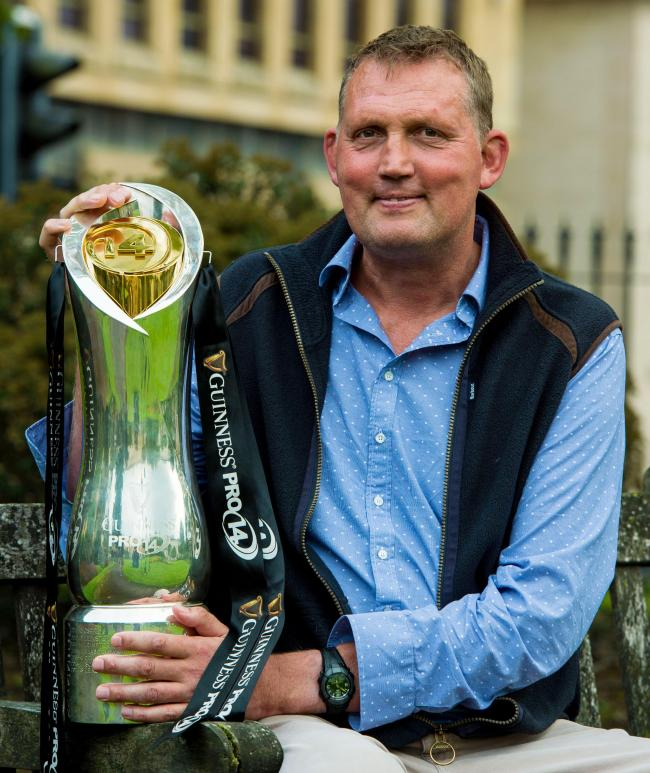 28/08/18 . BLYTHSWOOD HOTEL - GLASGOW . Former Scotland players Doddie Weir is on hand at the launch of The Guinness Pro14 on Premier Sports. He will be a pundit on the channel.