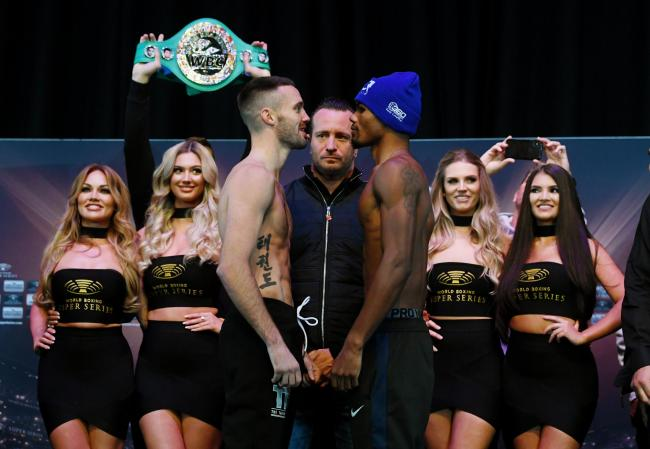 Josh Taylor and Ryan Martin weigh in ahead of their World Boxing Super Series fight