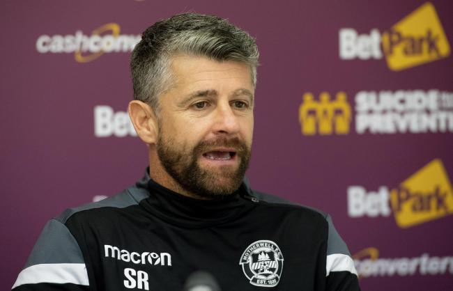 05/10/18 . FIR PARK - MOTHERWELL . Motherwell manager Stephen Robinson looks ahead to his sides match against Livingston.