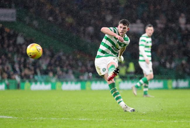 Celtic's Ryan Christie scores his sides fourth goal during the Ladbrokes Scottish Premiership match at Celtic Park, Glasgow. PRESS ASSOCIATION Photo. Picture date: Saturday December 8, 2018. See PA story SOCCER Celtic. Photo credit should read: Jane B