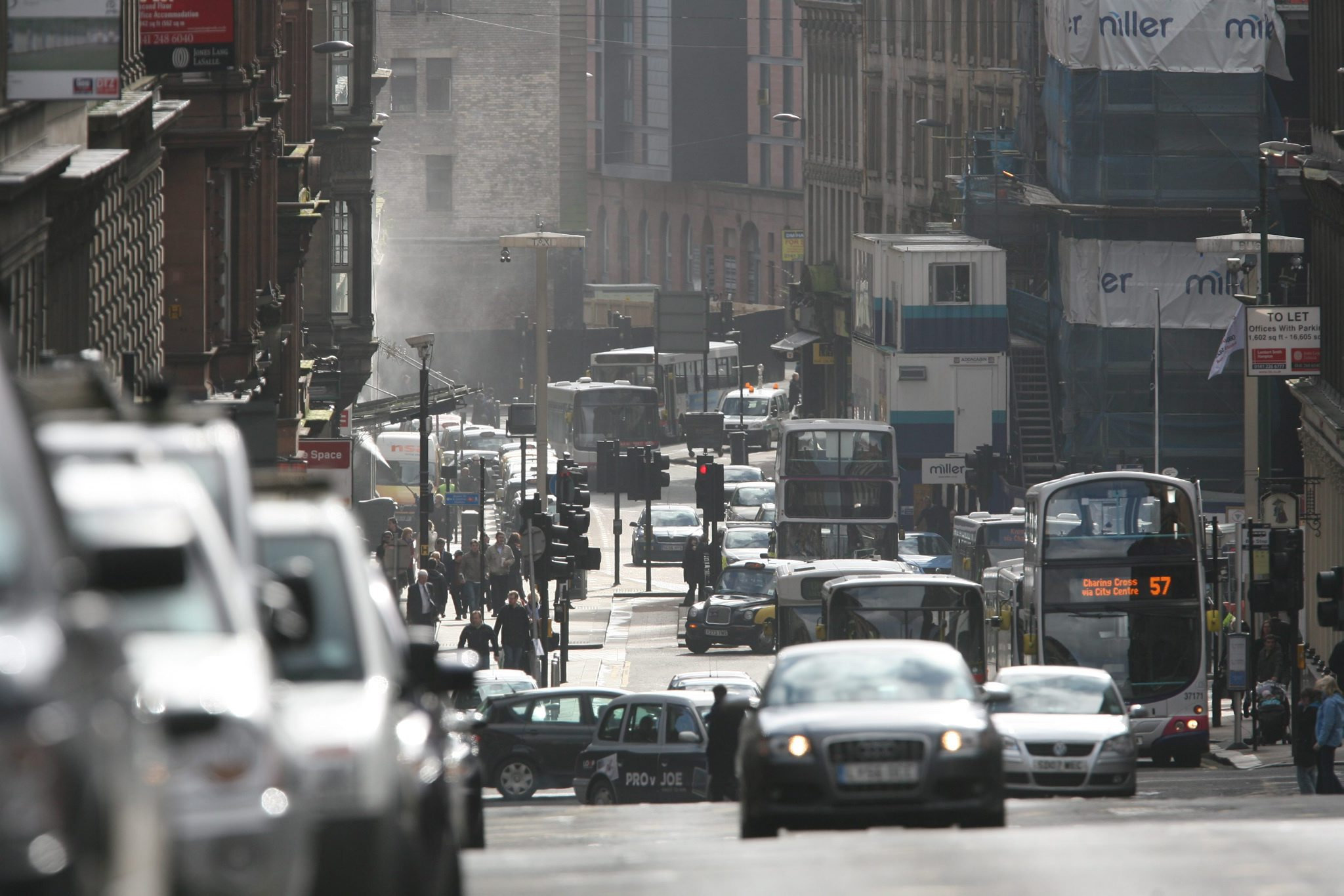 Glasgow's Hope Street found to be most polluted in Scotland