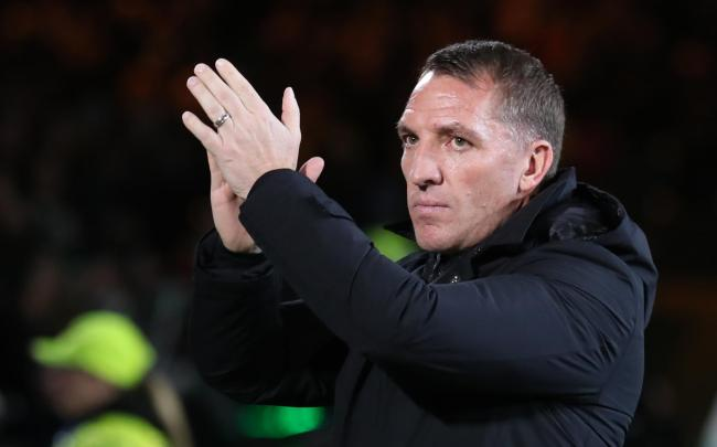 File photo dated 06-02-2019 of Celtic manager Brendan Rodgers. PRESS ASSOCIATION Photo. Issue date: Thursday February 7, 2019. Boss Brendan Rodgers offered Celtic fans some positive news on the injury front following their 2-0 win over Hibernian at Parkhe