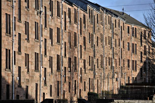 GLASGOW, SCOTLAND - JANUARY 25: a general view tenement flats on Tollcross on January 25, 2014 in Glasgow, Scotland. (Photo by Jamie Simpson/Herald & Times) - JS.