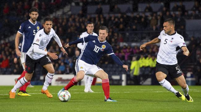 Callum McGregor in action for Scotland PHOTO: PA