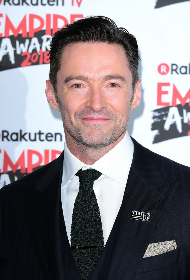 18/03/18 PA File Photo of Hugh Jackman wins the award for Best Actor at the Rakuten TV Empire Film Awards at the Roundhouse in London. See PA Feature SHOWBIZ Film Jackman. Picture credit should read: Ian West/PA Photos. WARNING: This picture must only be