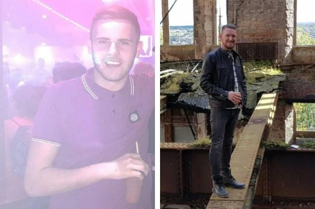 James Crossan pictured on holiday (left) and victim Johnny McEwan (right)