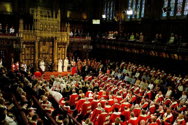 Queen Elizabeth II delivers the Queen's Speech during the State Opening of Parliament, in the House of Lords at the Palace of Westminster in London. PRESS ASSOCIATION Photo. Picture date: Wednesday May 18, 2016. See PA story POLITICS Speech. Photo cre